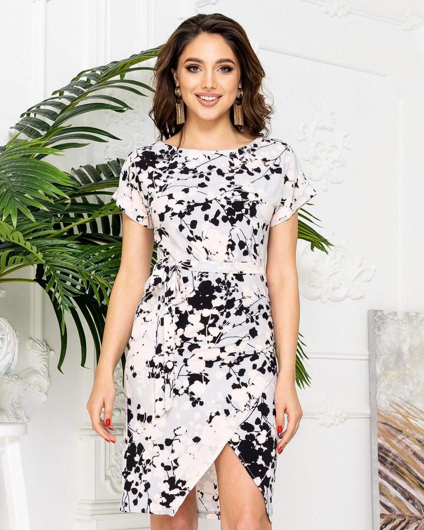 Женское платье, евро - софт, р-р 42-44; 46-48; 50-52; 54-56 (белый)
