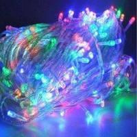 Гирлянда новогодняя светодиоды 500 л,мульт, белый провод, фото 1