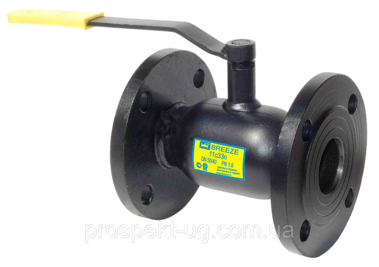 Кран фланцевий 11с32п стандартний прохід ду100/80 Ру40
