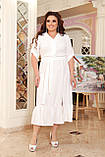 Праздничное платье женское Креп  с вышивкой Размер 48-50 52-54 56-58 60-62 64-66 Разные цвета, фото 3