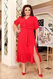 Праздничное платье женское Креп  с вышивкой Размер 48-50 52-54 56-58 60-62 64-66 Разные цвета, фото 2