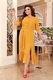 Праздничное платье женское Креп  с вышивкой Размер 48-50 52-54 56-58 60-62 64-66 Разные цвета, фото 4