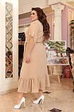 Праздничное платье женское Креп  с вышивкой Размер 48-50 52-54 56-58 60-62 64-66 Разные цвета, фото 5