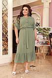 Праздничное платье женское Креп  с вышивкой Размер 48-50 52-54 56-58 60-62 64-66 Разные цвета, фото 6