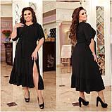 Праздничное платье женское Креп  с вышивкой Размер 48-50 52-54 56-58 60-62 64-66 Разные цвета, фото 8