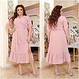 Праздничное платье женское Креп  с вышивкой Размер 48-50 52-54 56-58 60-62 64-66 Разные цвета, фото 9