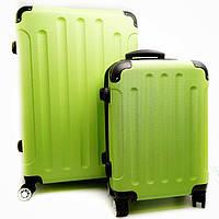 Дорожній валізу на колесах малий салатовий Арт.8039/3(S) Bagia Польща