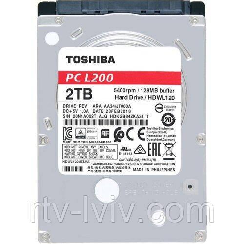Накопичувач Toshiba L200 2TB HDD
