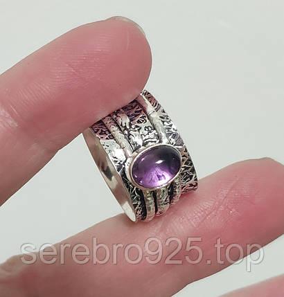 Кольцо в серебре с аметистом 17 р., фото 2