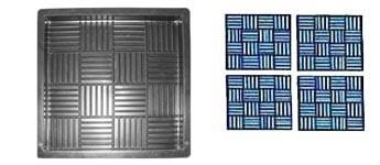 Форма для производства тротуарной плитки «Квадрат шоколадка»