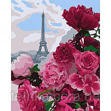 "Набор для рисования,  картина по номерам ""Французский букет"", 40*50 см., SANTI"