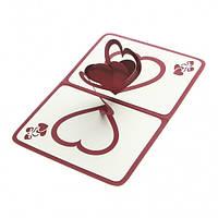 Объемная открытка Признание в любви бордо