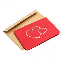 Объемная открытка Сердца love