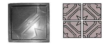 Форма для виробництва тротуарної плитки «Квадрат Ажурний»