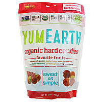 Конфеты натуральные Свежайшие Фрукты, Yummy Earth, Organic Candy Drops, Freshest Fruit, 370 г, 85 штук, скидка