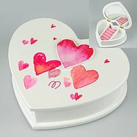 Шкатулка для прикрас Серце 19х16х6 см