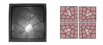 Форма для виробництва тротуарної плитки «Мережа»