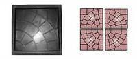 Форма для производства тротуарной плитки «Сеть»