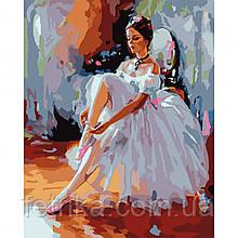 """Набор для рисования, картина по номерам """"Балерина"""", 40*50 см., SANTI"""