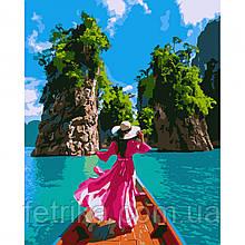 "Набор для рисования, картина по номерам ""Волшебный Тайланд"", 40*50 см., SANTI"