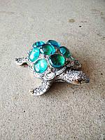 Статуэтка фэн - шуй черепаха на монетах, ширина 11 см.