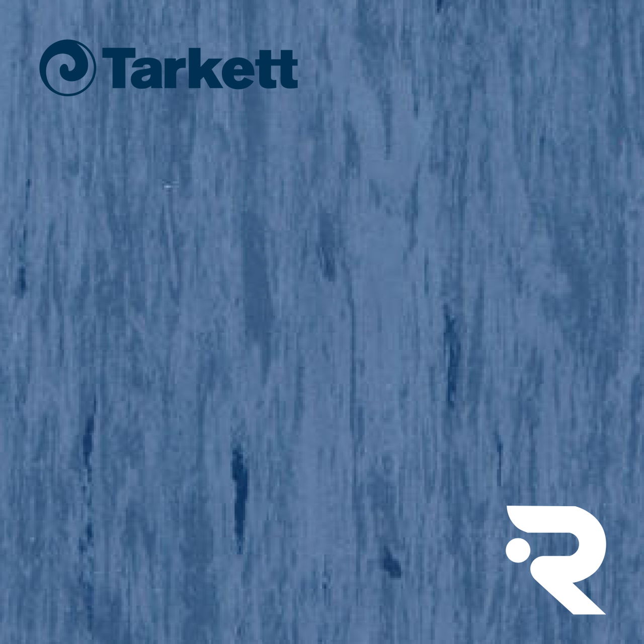 🏫 Гомогенний лінолеум Tarkett | Standard DARK BLUE 0493 | Standard Plus 2.0 mm | 610 х 610 мм