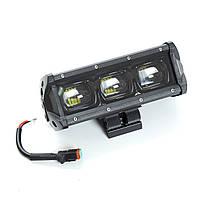 Фара-LED Балка  200*70*75mm 30W (10W*3) 10-30V  Ближний/Линза/Black Line/6D Серия (1шт) 4066