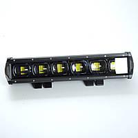 Фара-LED Балка  350*70*75mm 60W (10W*6) 10-30V  Ближний/Линза/Black Line/6D Серия (1шт) 4067