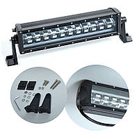 "Фара-LED Балка  370*85*90mm  60W (5W*12) 10-30V  Ближний с неоновым Ободом 4 режима ""Лидер"" (K60W)"