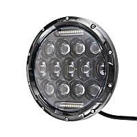 "Фара-LED  Круг  75W 10-30V  Ø 7"" (1шт) / Линзованая/ CREE+DRL/на УАЗ,Нива,2101  (101)   3379"