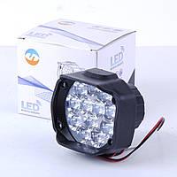 Фара -LED  Круг-мини 12W (1W*12) 12-85V  65*55*120mm Дальний/Spot (1шт) (пластик.корпус) 12 Led T9C
