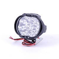 Фара -LED  Овал-мини  15W (1.1W*9) 12-85V  60*50*45mm  Дальний/Spot (1шт) (пластик.корпус) 9 Led min