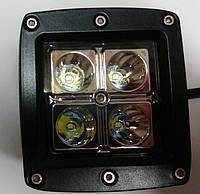 Фара-LED  Квадрат  12W (3W*4) 10-30V   82*75*80mm  Дальний/Spot (14-12W) (1шт)   2590