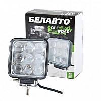 """Фара-LED  Квадрат  27W (3W*9) 10-30V  104*104*60mm  Дальний/Spot """"BELAUTO"""" (BOL0903 L)  (1шт)"""
