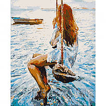 "Набор для рисования,картина по номерам ""Ожидание"", 40*50 см., SANTI"