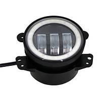 Противотуманные LED Фары Линза с ДХО D=100мм 10-30V/30W 7000K Дальний свет (1шт) 3112