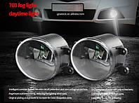 Противотуманные LED Фары Линза с ДХО D=87мм 12V/6W 6500K (2шт) 088 A/L  3621