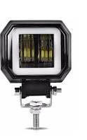 Фара-LED  Квадрат  20W (10W*2)  Линза с ДХО 20W 10-30V  Дальний свет 95*73*60mm (1шт)(F20W)