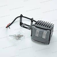 Фара-LED  Прямоугол  30W (15W*2) 10-30V  80*75*70mm  Ближняя PREMIUM Линзованная