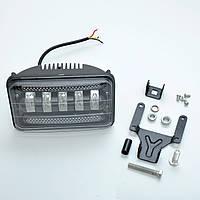 Фара-LED  Прямоугол  75W (15W*5) 10-30V  170*105*80mm ближний/flood+Ходовые Огни (W 01-75) (1шт)