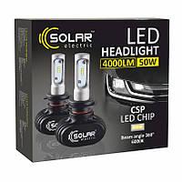 """Лампа LED H1 радіатор 4000Lm """"Solar"""" 8101 /CSP/50W/6000K/IP65/9-32v (2шт) 12мес.гарантія (50шт/ящ)"""