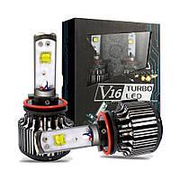 """Лампа LED H3 вентилятор 3600Lm """"Tubo Led"""" V16 /CREE/30W/6000K/IP67/8-48v (2шт) 6міс.гарантія"""