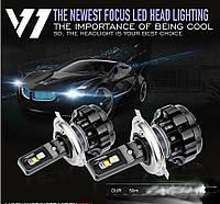 """Лампа LED H3 вентилятор 4000Lm """"Focus Beam"""" V1+ /CSP/35W/6000K/IP67/12-24v (2шт) 9 міс.гарантії**"""