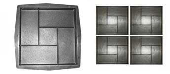 Форма для виробництва тротуарної плитки «Квадрат Цегла»