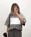 Однотонний спортивний костюм жіночий з коротким рукавом 46-465, фото 4