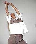 Однотонний спортивний костюм жіночий з коротким рукавом 46-465, фото 6