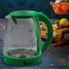 Чайник Domotec MS 8112 Зелений (1.8 л, 2200Вт, скло)