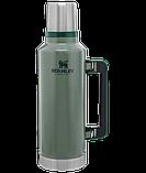Лот №16, Термос STANLEY Classic Legendary 1.9 литра зелёный, состояние (5-) по пятибалльной шкале, фото 3