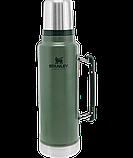 Лот №23, Термос STANLEY Classic Legendary 1.4 литра зеленый, состояние (4) по пятибалльной шкале, фото 5