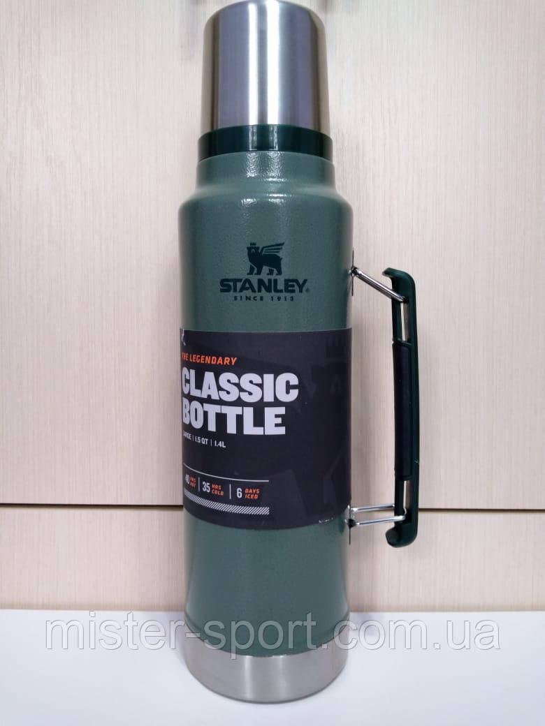 Лот №23, Термос STANLEY Classic Legendary 1.4 литра зеленый, состояние (4) по пятибалльной шкале